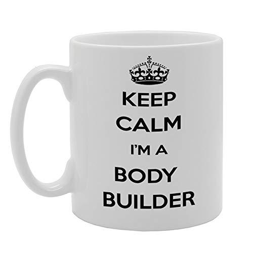 MG945 Taza de cerámica con texto en inglés 'Keep Calm I'm A Body Builder'