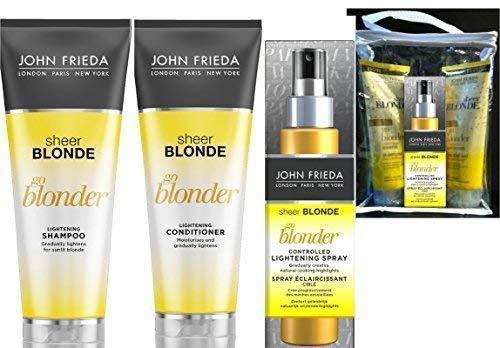 John Frieda Sheer Blonde Go Blonder Geschenkset Shampoo Conditioner & Hightlight Spray