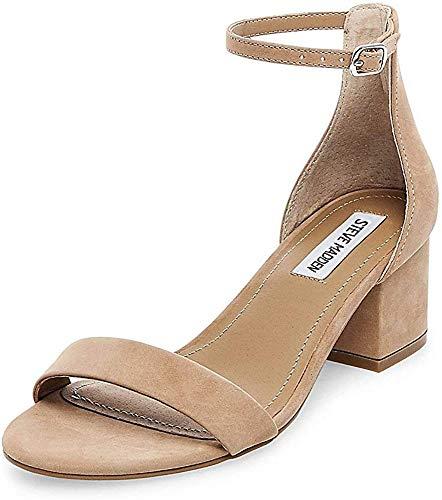 Steve Madden Women's Irenee Dress Sandal, Tan Nubuck, 5