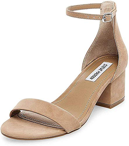 Steve Madden womens Irenee Dress Sandal, Tan Nubuck, 8.5 US