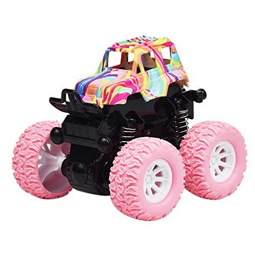 Toyvian Juguete para arrastrar y tirar de los coches, juguete para camiones, tracción en 4 ruedas, juguete para niños (rosa)