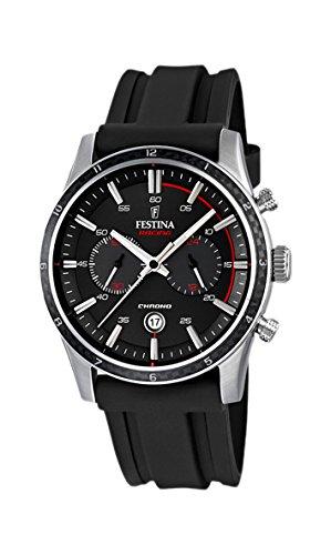 Festina Tour of Britain, edizione 2015-Orologio da uomo al quarzo con Display con cronografo e cinturino in gomma, colore: nero, F16874/I