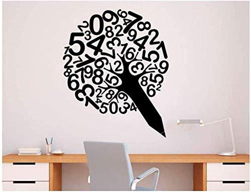Baum Bleistift digitale Wandtattoo Schule Vinyl Aufkleber Home Office Kunst Design Klassenzimmer Dekoration DIY 57X69Cm