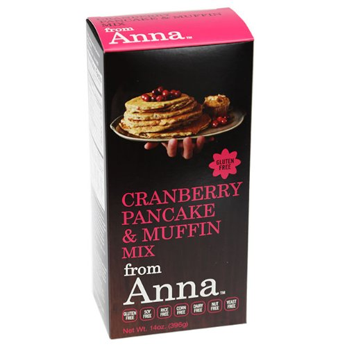 Cranberry Pancake and Muffin Mix, from Anna, Gluten yeast soy rice corn dairy and nut free, 14 oz