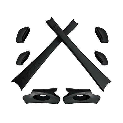 HKUCO Black Replacement Rubber Kit For Oakley Flak Jacket /Flak Jacket XLJ Sunglass Earsocks