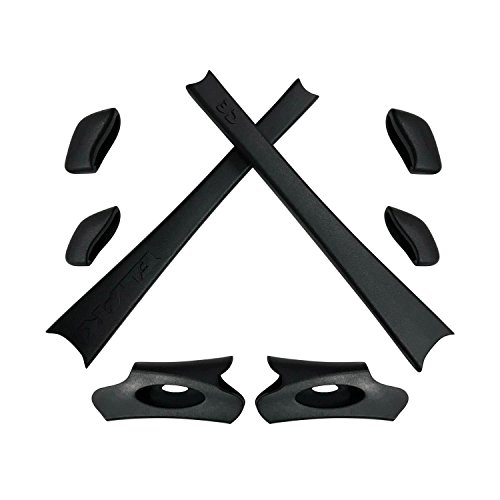 HKUCO Black Replacement Rubber Kit for Oakley Flak Jacket/Flak Jacket XLJ Sunglass Earsocks