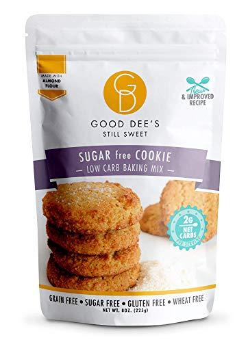 Good Dee's Sugar Free Cookie Mix - Low Carb Keto Baking Mix (2g Net Carbs, 12 Servings)   Gluten-Free, Grain-Free, Dairy-Free, Wheat-Free & IMO-Free   Diabetic, Atkins & WW Friendly
