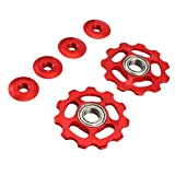 Vorcool - 2 pulegge per bicicletta, in alluminio, adatte per Shimano 11T, rosso