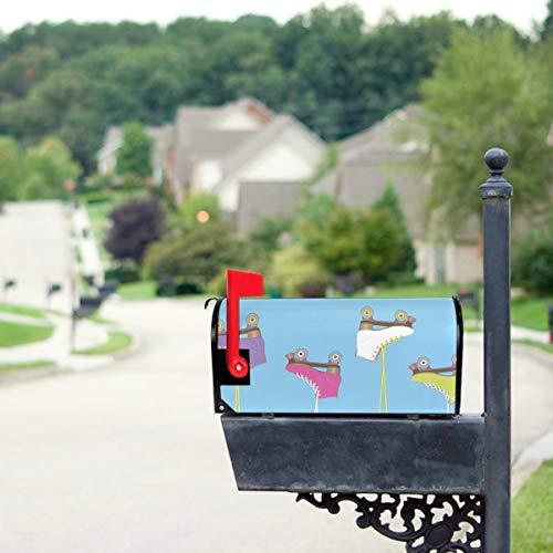 YXUAOQ Bunte Retro Rollschuhe Standardgröße Original Magnetic Mail Anschreiben Briefkasten 21 x 18 Zoll Flagge Mailbox Cover Mailbox Covers und Wraps Dekorative Mailbox Covers