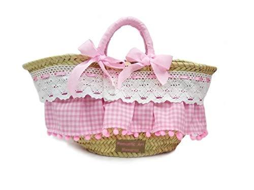 bolso de niña, bolso capazo infantil para niña, bolso de palma para niña, cesta