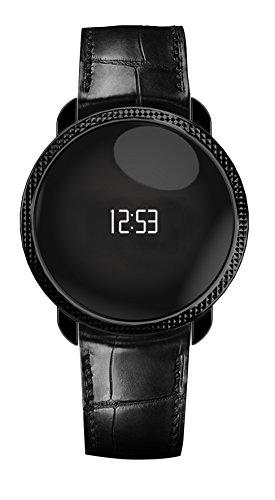 MyKronoz KRZECIRCLE-PREM-EMB-Black Premium Fitnessband (gepraegt Tracker Schrittzähler, Uhr, Bluetooth) schwarz