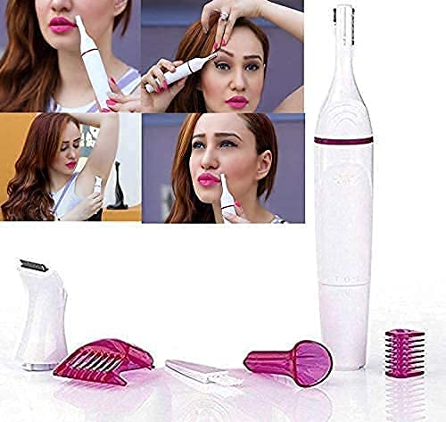Jack enterprise 5 in 1 trimmer for Upper, Lip, Chin, Eyebrow, bikini trimmer for women, underarm, Face Hair Remover electric machine for women