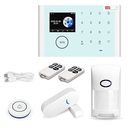 Baalaa Tuya GSM WiFi sistema de alarma de seguridad 433 MHz hogar y negocios antirrobo alarma prensa teclado 9 idiomas compatible Alexa
