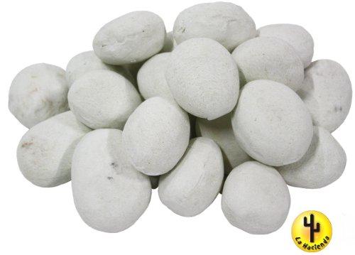 Kaminbau Mierzwa ( df-shopping )  Ceramica ciottoli per bioetanolo Fuoco Stelle/Gel del bruciatore 59201, 24Pezzi, Bianco