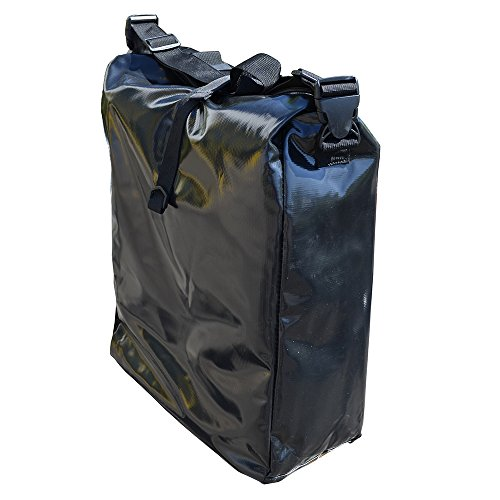 Filmer Fahrrad-Doppeltasche aus Tarpaulin, Schwarz, 54 x 37 x 16 cm, 32 Liter, 46367