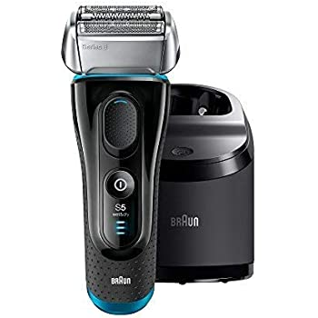 Braun Electric Razor for Men, Series 5 5190cc Electric Shaver with Precision Trimmer, Rechargeable, Wet & Dry, Clean & Charge Station and Travel Case
