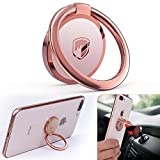 Phone Ring Holder Finger Kickstand - FITFORT 360° Rotation Metal Ring Grip for...