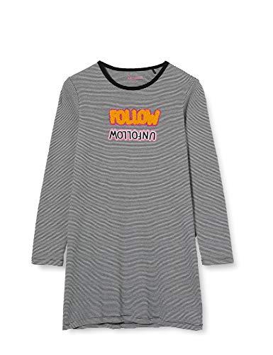 Schiesser Mädchen Sleepshirt 1/1 Nachthemd, schwarz, 152