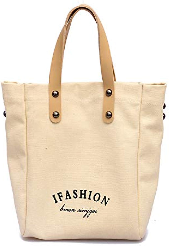 YNNB YNNB YNNB Fashion Canvas Bag, damen Letter Handtasche Large Capacity Shoulder Bag Adjustable Crossbody Bag Shopping Bag für Schularbeit Reisen und Daily,Weiß B07PLGVTZY  Mode-Muster 034f96