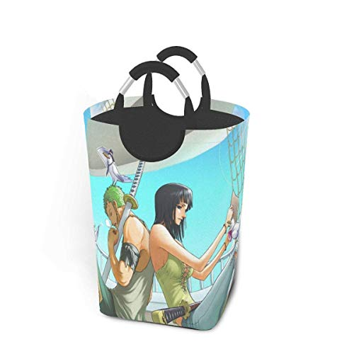 xuexiao Anime Laundry Basket Hamper Bag Dirty Clothes Storage Waterproof Foldable 50 Liter for Bathroom Toy Collection Storage Organizer