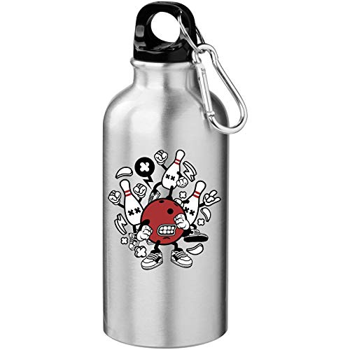Iprints Cartoon Styled Bowling Ball and Pins Tourist Water Bottle
