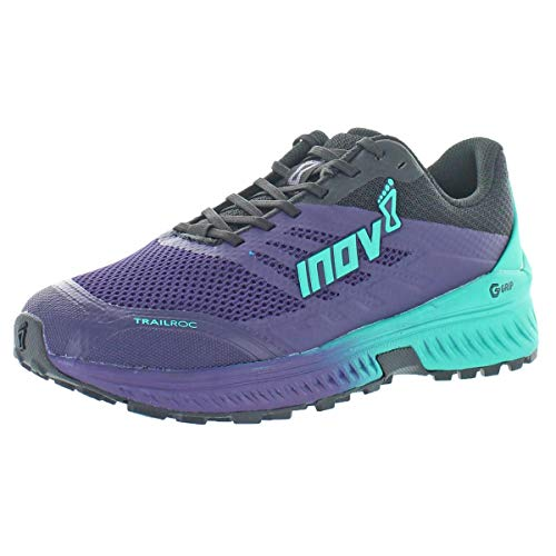 Inov-8 Womens Trailroc G 280 - Trail Running Shoes - Super Durable - Rock Plate - Ideal for Rocky Trails and Ultra Running - Purple/Black