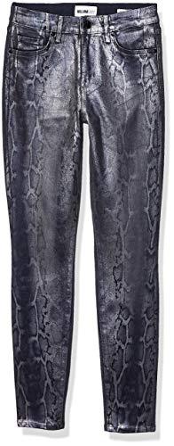 William Rast Women's Sculpted High Rise Skinny Jean, Snake Metal - Turn Back Hem, 32 (Nice Tops To Wear With Skinny Jeans)