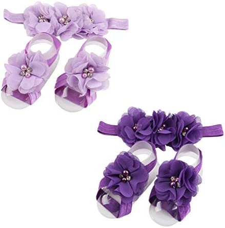 LD DRESS Baby Girl Foot Flower Headband ZH C Whole approx 8 x 5 5cm 3 14 x 2 16 product image
