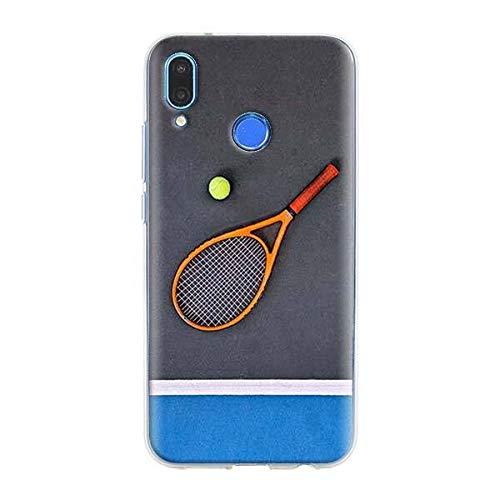 XMCJ Funda de silicona para Xiaomi Redmi Note 7 8 Pro 6 6A 7A 8T K20 Pro Cover Shell Sport Tennis (Color: S06, Material: Xiaomi Redmi K20 Pro)