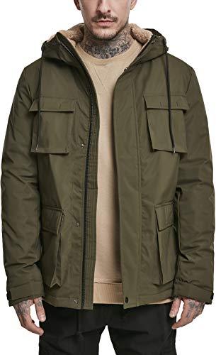 Urban Classics Herren Field Jacket Jacke, Grün (Dark-Olive 00551), Medium (Herstellergröße: M)