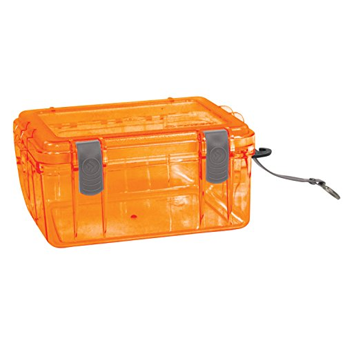 Outdoor Products Watertight Box, Large, Shocking Orange
