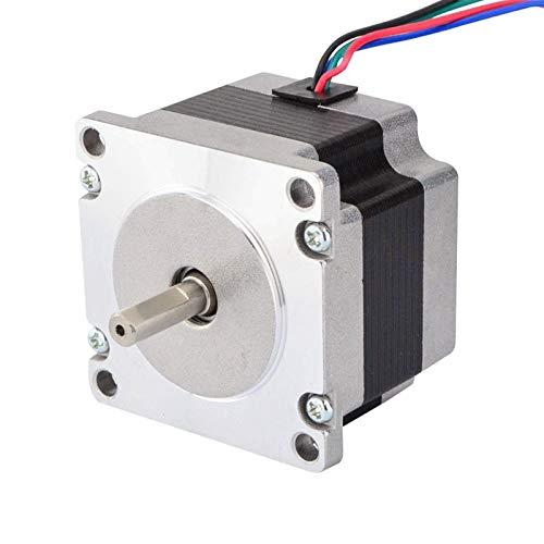 Accessori per stampante Nema 23 piccola corrente motore passo-passo 0,88 A 0,6 Nm (8,5 oz.in) 57 x 42 mm 6,35 mm albero Nema23 passo motore 4-piombo per stampante 3D CNC accessori di stampa 3D