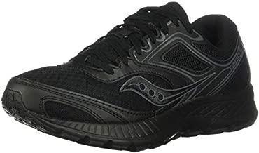 Saucony Women's VERSAFOAM Cohesion 12 Road Running Shoe, Black/Black, 10 M US