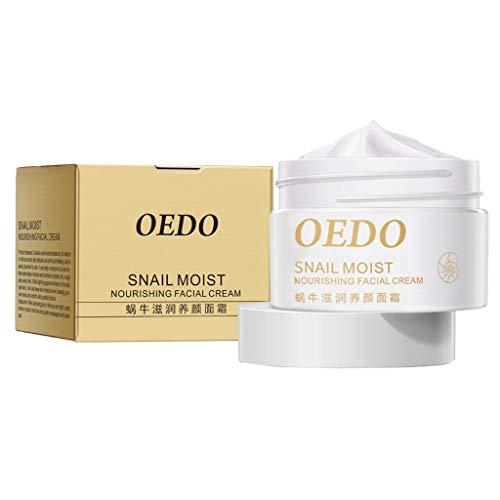 oshhni Crema Hidratante de Caracol para Mujer Crema de Esencia Blanqueadora Belleza
