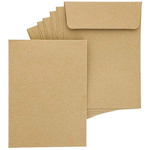 Juvale 100-Pack Bulk Self Seal Kraft Seed Envelope Pouches, 4.5 x 3 Inches