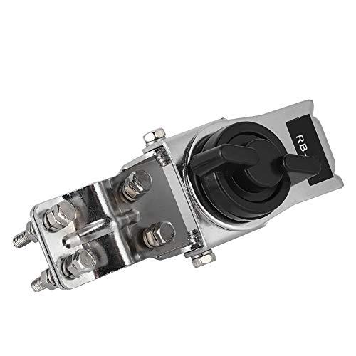 Soporte / soporte de antena para antena VHF / UHF, acero inoxidable para montaje de clips de hierro para el coche, sin necesidad de taladrar orificios, para el portón trasero, puerta de apertura later