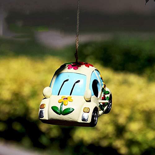 ZfgG tuin ornamenten beeldje auto vliegtuig schip vogel huis waterdichte hars tuin voor tuin landschap gazon decoratie ambachten geschenkschip