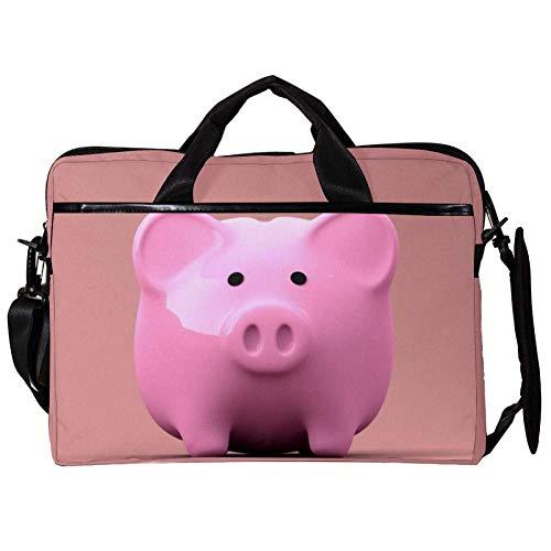 Pink Pig 15 inch Laptop Sleeve case Protective Bag, ultrabook Notebook Carrying case Handbag Shoulder Messenger Bag for MacBook Pro, MacBook Air