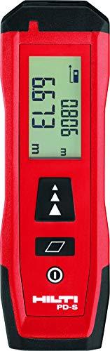 Hilti PD S Laser-Entfernungsmesser Distanzmessgerät - 0,02 bis 60 m, Handbetrieb, Display