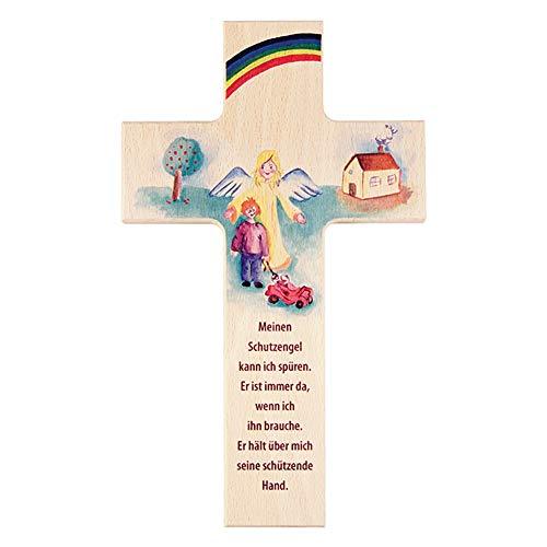 FRITZ COX - Kinderkreuz 'Mein Schutzengel' das ideale Kreuz für das Kinderzimmer und ein tolles Taufgeschenk