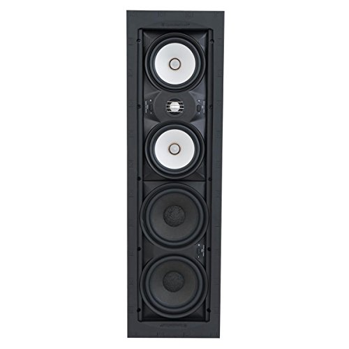 New SpeakerCraft Profile AIM Cinema Three In-Wall Speaker with 1 Pivoting Tweeter - Each (Black)