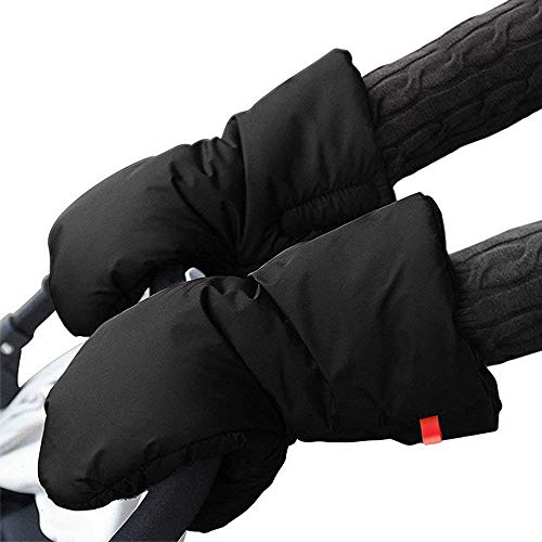 Stroller Hand Muff Warm Gloves - Winter Extra Thick Stroller Gloves Waterproof Anti-Freeze Gloves for Parents and Caregivers Handlebar Warmer Gloves, Pram Accessory