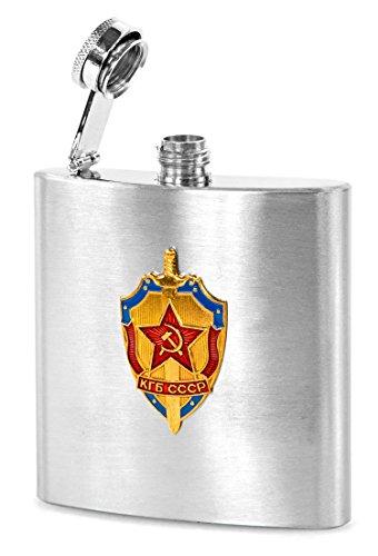 Nick and Ben Flachmann Edelstahl 200 ml Russland CCCP Sammler Flasche Schnapsflasche Flasche