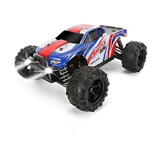 Remote Control Car, 1/18 Scale Hith-Speed RC Cars, Fast 35+ KMH 4WD Off-Road Remote Control Trucks with LED Light, All Terrain RC Cars, Great RC Trucks for Adults Kids