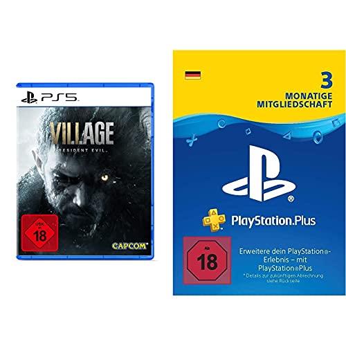 Resident Evil Village [USK 18 - UNCUT] (PS5 - Disk) + PlayStation Plus Mitgliedschaft   3 Monate   deutsches Konto   (Download Code)