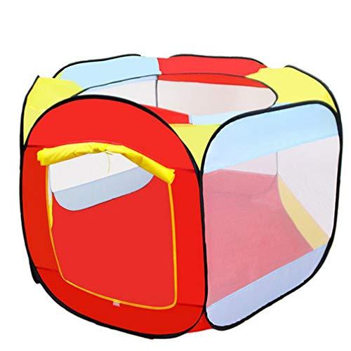 Binghotfire Niños Tiendas de campaña para niños Grandes Juegos de Bolas oceánicas portátiles Piscina Casa de Juegos Regalos Rojo y Amarillo y Azul