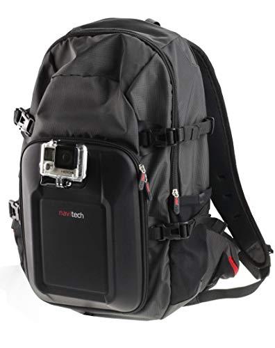 Navitech Sac à Dos caméra d'action & 18-in-1 Kit Combo Accessoire avec Sangle pectorale intégrée Compatible avec GoPro Fusion Hero6 Black