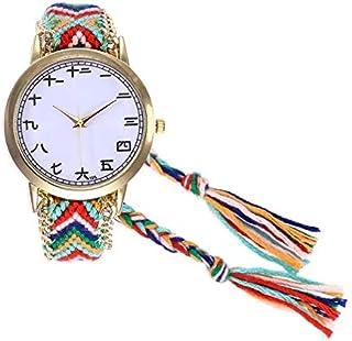 JINN-Women's Watches - Women's Watch Vintage Women Native Handmade Women's Watch Chinese Character Wool Strap Round Dial Q...