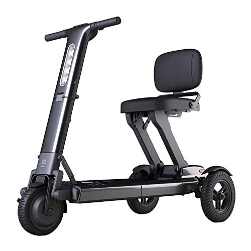 YF-Mirror Folding Mobility Scooter by Moving Life, Full-Size Portable Electric Scooter for Adults, Lightweight Lithium Battery, Airline Approved