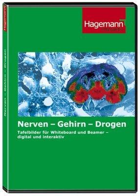 Nerven - Gehirn - Drogen - Interaktive Tafelbilder auf CD-ROM für PC, Beamer und Whiteboard - Hagemann 192280 - Einzellizenz